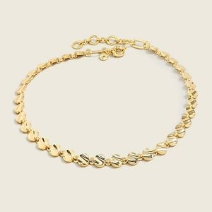 J.Crew hammered disc chain necklace